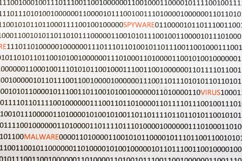 Verborgen virus in de code stock fotografie