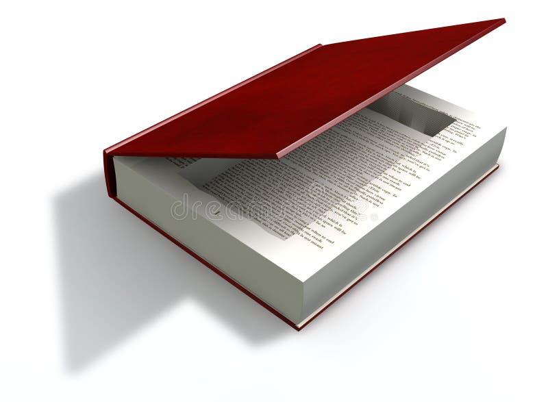 Verborgener Hohlraum in einer Buch-Front stock abbildung