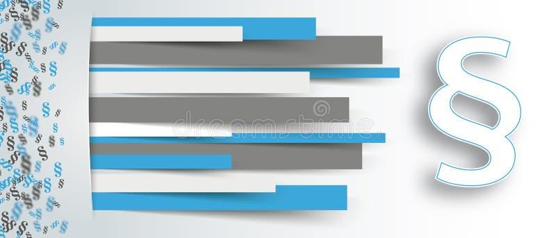 Verborgenes Papier zeichnet kleine Paragraph-Seiten-weiße Paragraphenüberschrift lizenzfreie abbildung