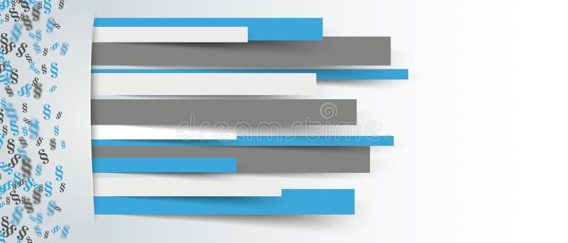 Verborgenes Papier zeichnet kleine Paragraph-Seitentitel stock abbildung