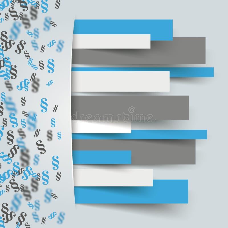 Verborgenes Papier zeichnet kleine Paragraph-Seitenverkleidung vektor abbildung