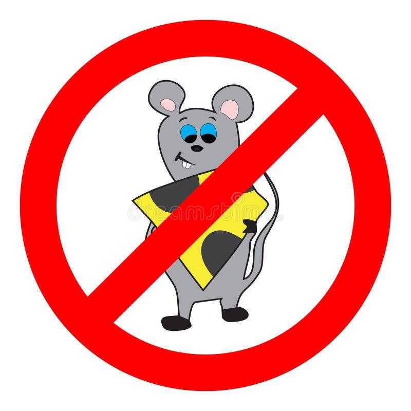 Verbot der Maus und der Nagetiere lizenzfreie abbildung