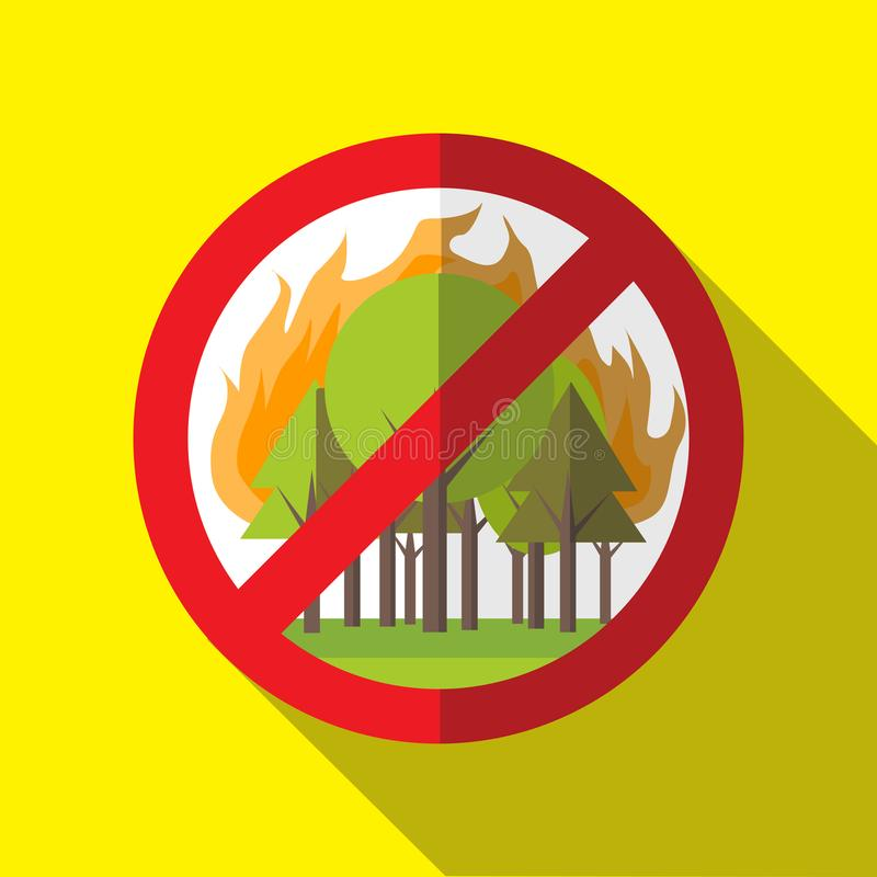 Verbot Forest Fires Vector Sign - Plakat stockfotografie