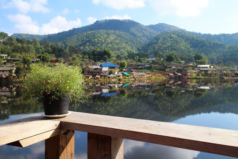 Verbot rak thailändisches Mae Hong Son stockfoto