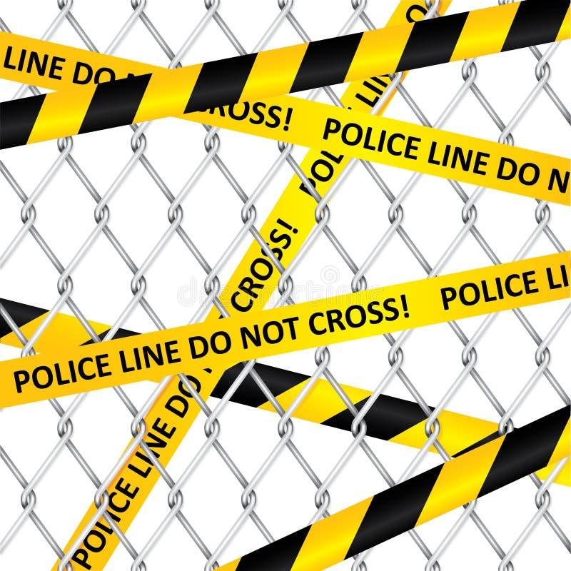 Verboten durch die Polizei lizenzfreie abbildung