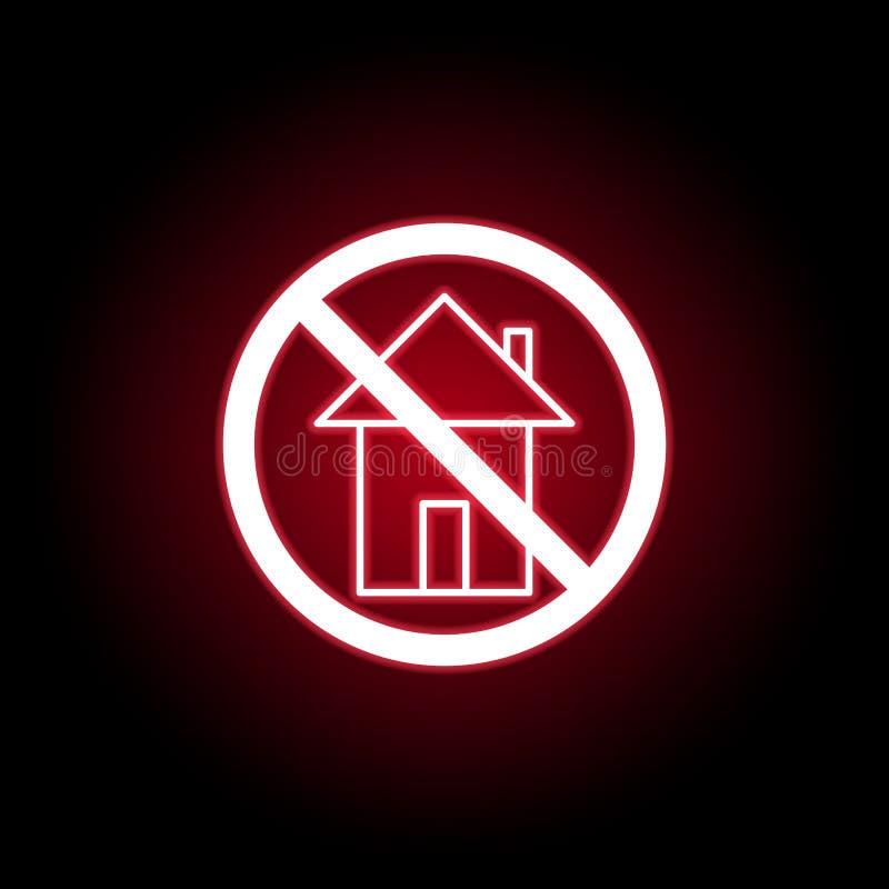 Verbotene Hauptikone in der roten Neonart Kann f?r Netz, Logo, mobiler App, UI, UX verwendet werden vektor abbildung
