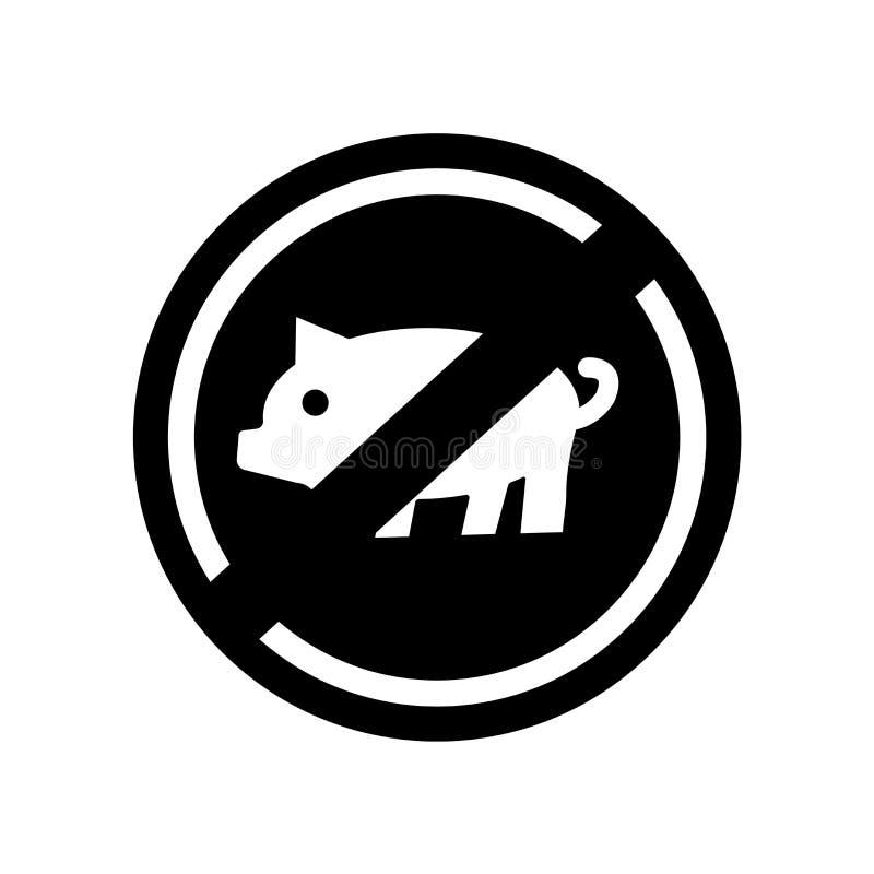 Verbotene Nahrungsmittelikone Modisches verbotenes Nahrungsmittellogokonzept auf whi stock abbildung