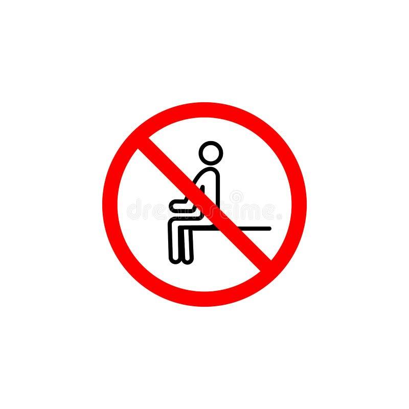 Verbotene sitzende Ikone kann für Netz, Logo, mobiler App, UI UX benutzt werden lizenzfreie abbildung