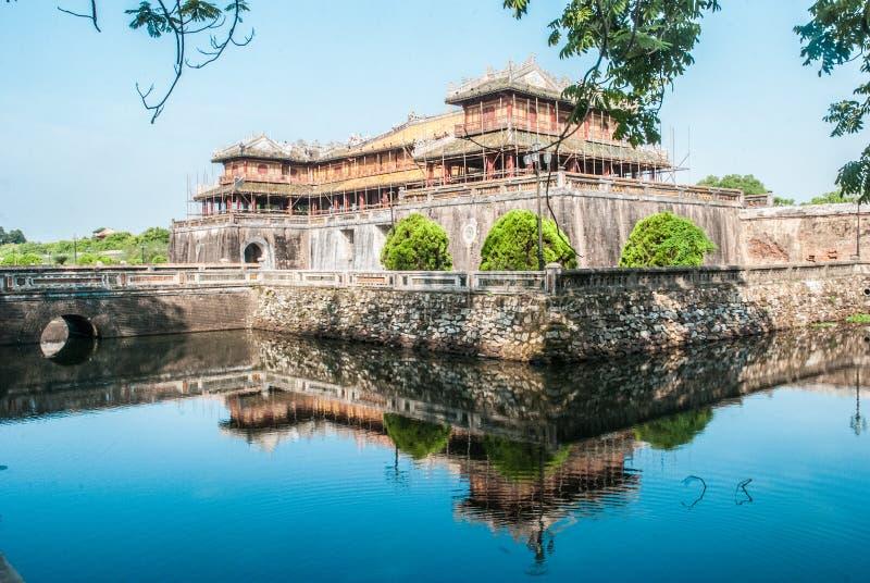 Verbotene Stadt, Farbe, Vietnam lizenzfreies stockfoto