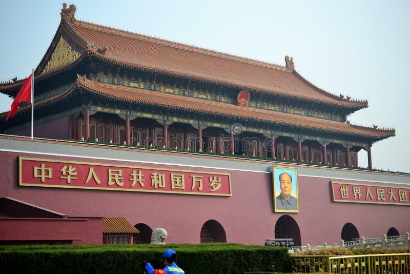 Verbotene Stadt, gugong, traditionelle chinesische Architektur in Peking, CHINA lizenzfreie stockfotografie