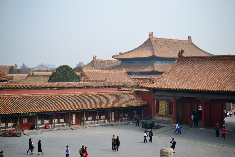 Verbotene Stadt, gugong, traditionelle chinesische Architektur in Peking, CHINA stockfoto