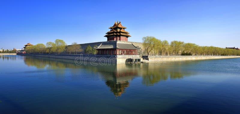 Verbotene Stadt panoramisch, Peking, China lizenzfreies stockbild