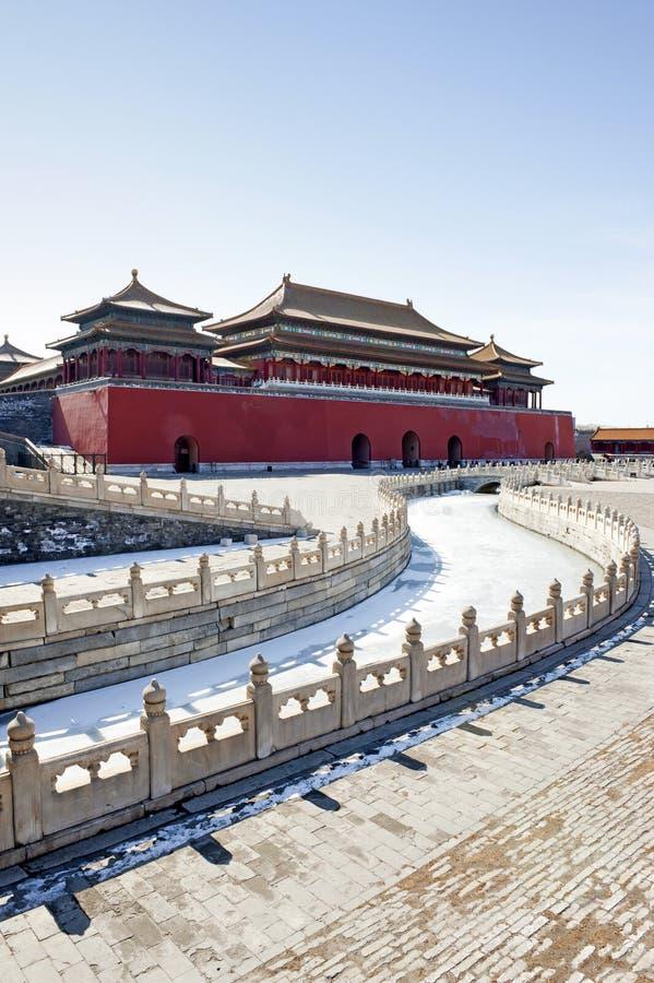 Verbotene Stadt in Peking, China lizenzfreie stockbilder