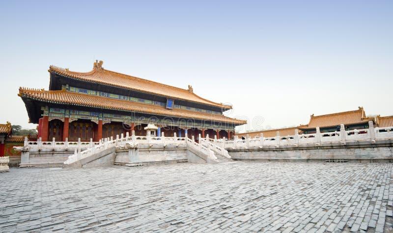 Verbotene Stadt in Peking, China stockfotografie