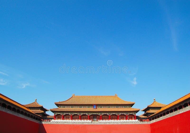 Verbotene Stadt, Peking China stockbilder