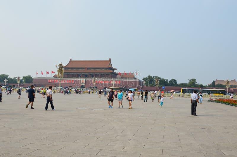 Verbotene Stadt, wie vom Tiananmen-Platz gesehen stockfoto