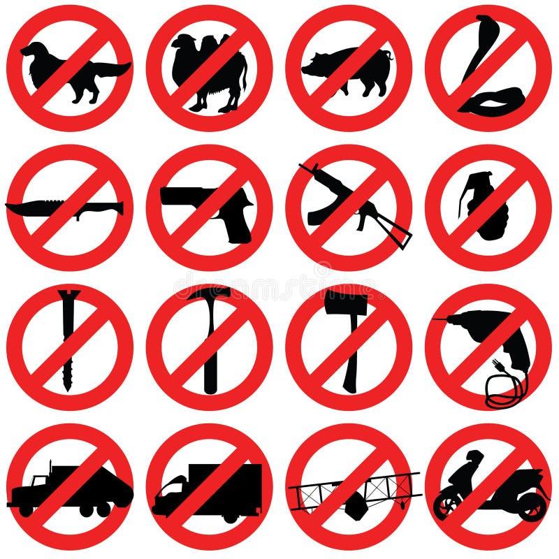 Verbotene Zeichen lizenzfreie abbildung