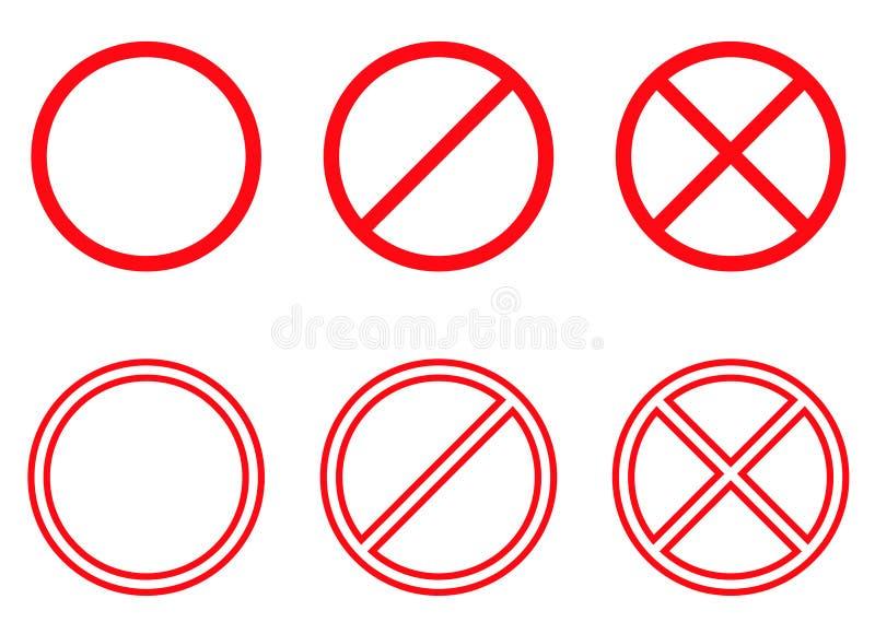 Verboten! vektor abbildung