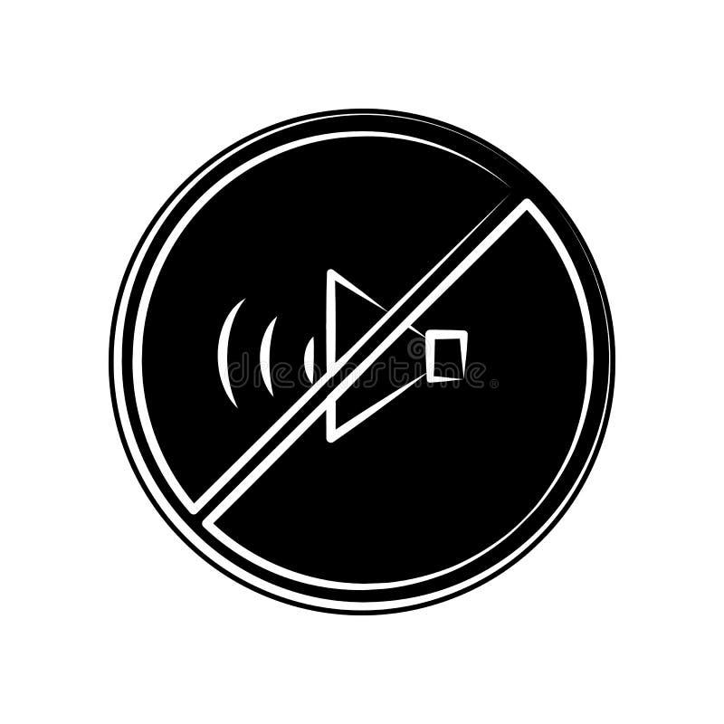 Verbotener Ton, keine solide Ikone Element der Mutterschaft für bewegliches Konzept und Netz Appsikone Glyph, flache Ikone für We stock abbildung