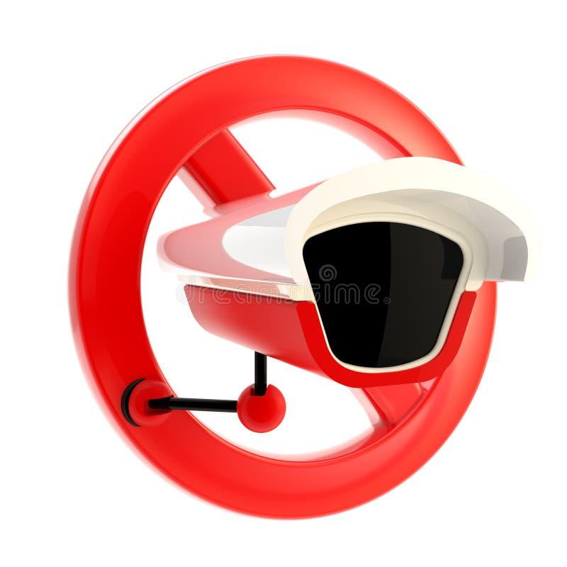 Verbotenes Zeichen des Industriefernsehens getrennt vektor abbildung