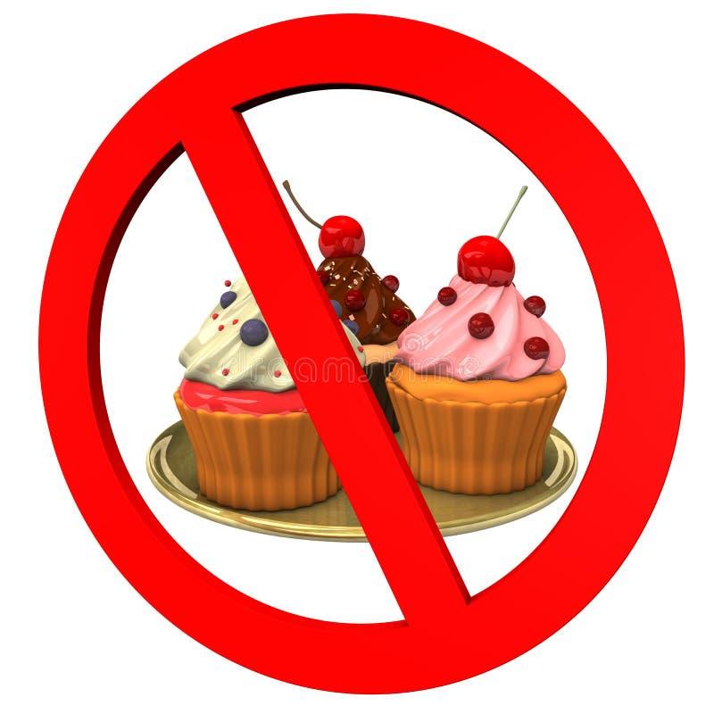 Kleine Kuchen verboten stock abbildung