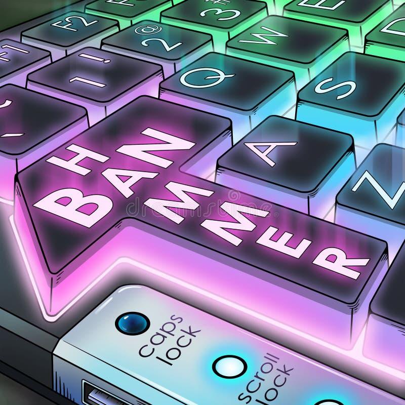 Verbothammer-Tastaturknopf stockbild