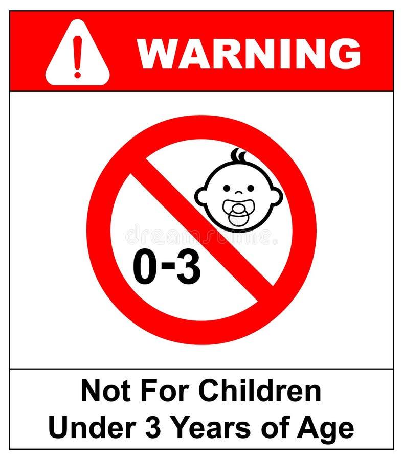 Verbotszeichen für Kinder Nicht für Kinder unter 3 Jahren Zeichen Auch im corel abgehobenen Betrag lizenzfreie abbildung