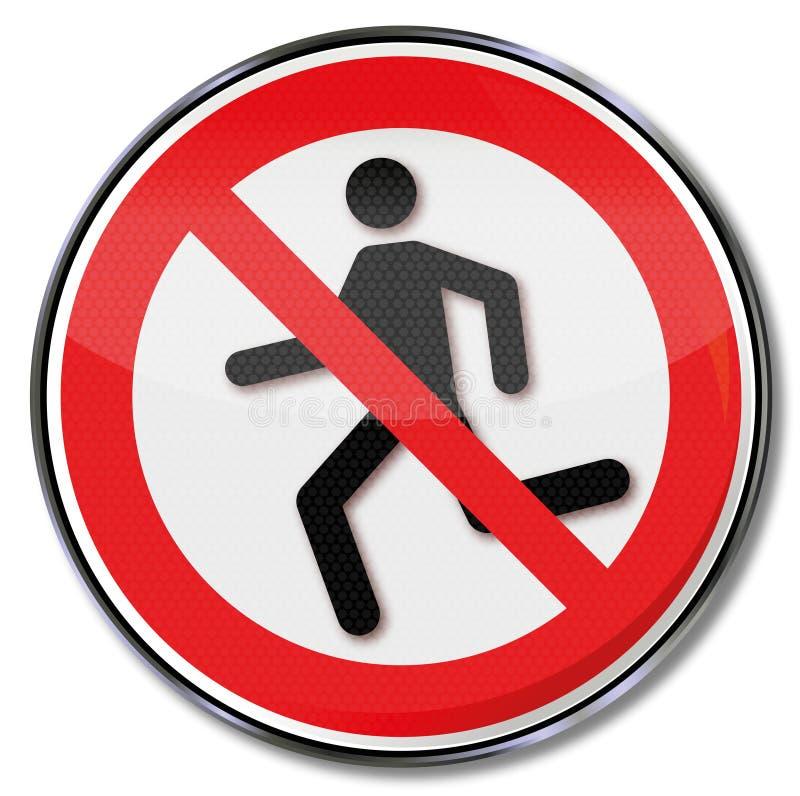 Verbotszeichenbetrieb wird verboten lizenzfreie abbildung