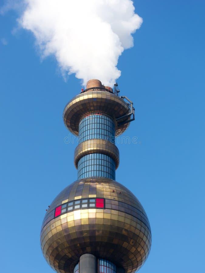 Verbranding die door Hundertwasser wordt ontworpen stock afbeeldingen
