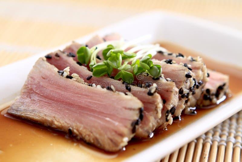 Verbrannter Thunfisch lizenzfreies stockfoto