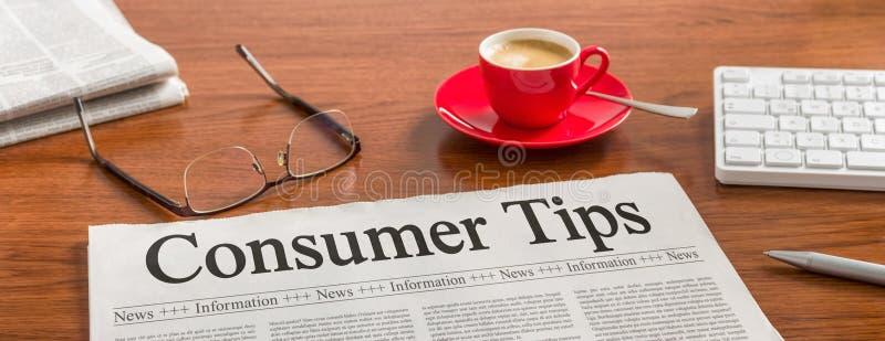 Verbraucher-Tipps lizenzfreies stockbild