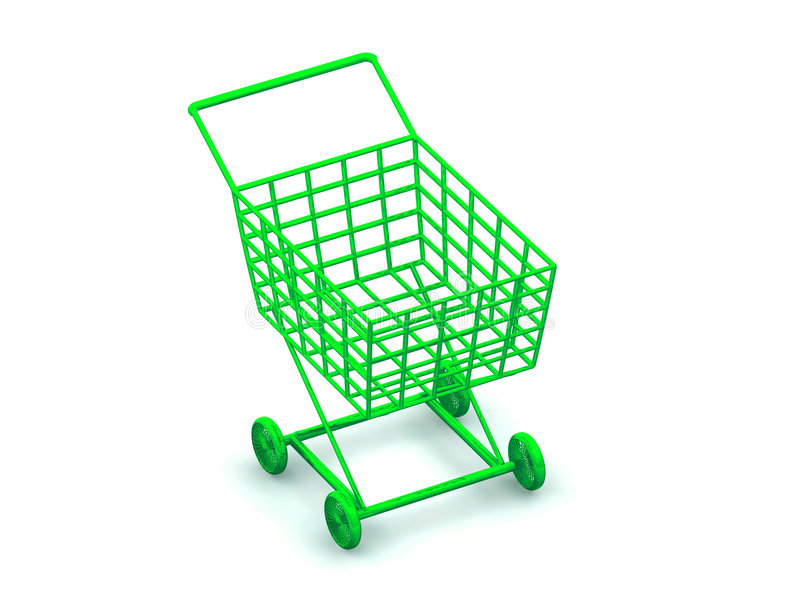 Verbraucherkorb stock abbildung
