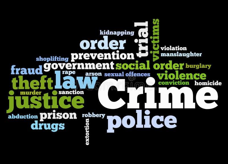 Verbrechen lizenzfreie abbildung