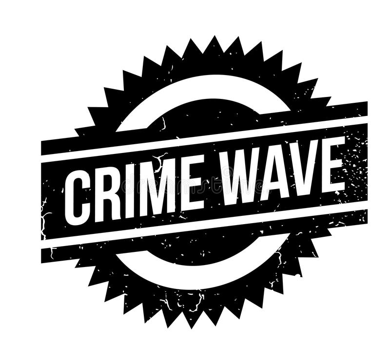 Verbrechensanstiegstempel stock abbildung