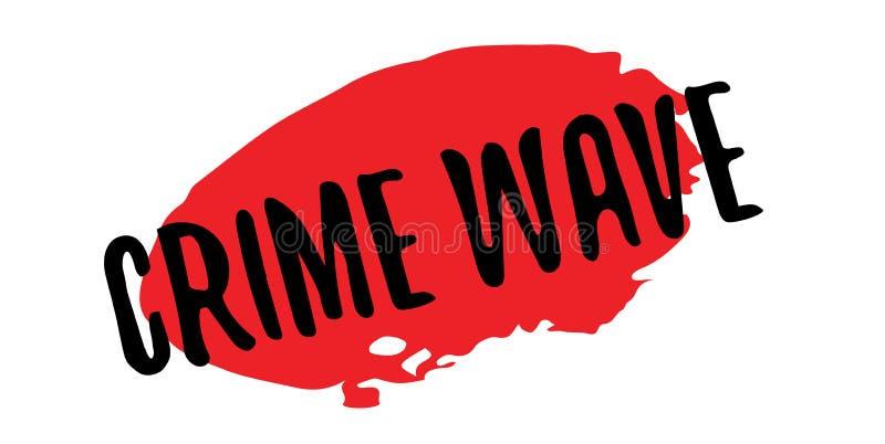 Verbrechensanstiegstempel lizenzfreie abbildung