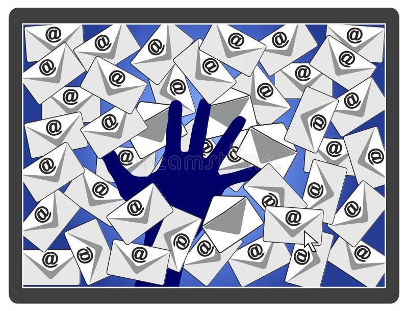 Verbrecher, die E-Mail zerhacken stock abbildung