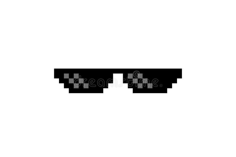 Verbrecher-Leben-Pixel Art Glasses vektor abbildung