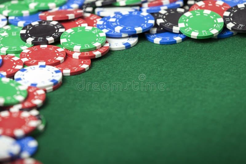 Verbreiten Sie Pokerchips stockbild