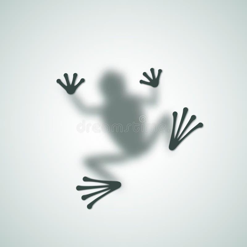 Verbreiteter Frosch-Schattenbild-Schatten-Zusammenfassungs-Vektor stock abbildung