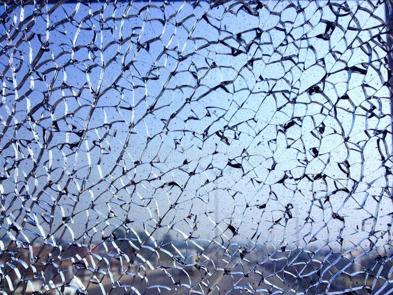 Verbrijzeld Glas stock afbeelding