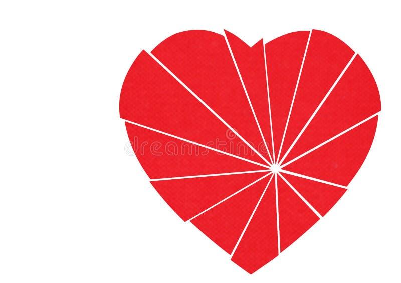 Verbrijzeld rood te herstellen hart - geïsoleerdn op wit royalty-vrije illustratie
