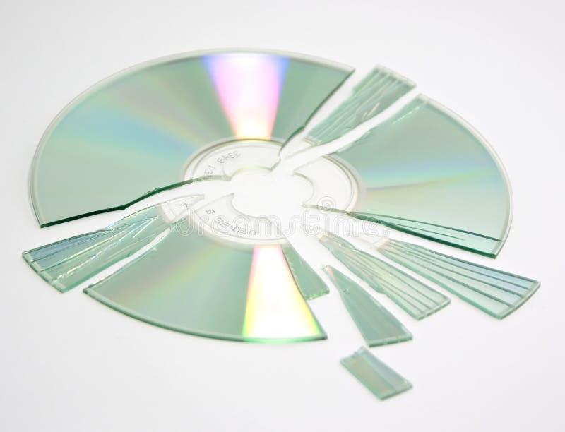 Verbrijzelde CD stock foto's
