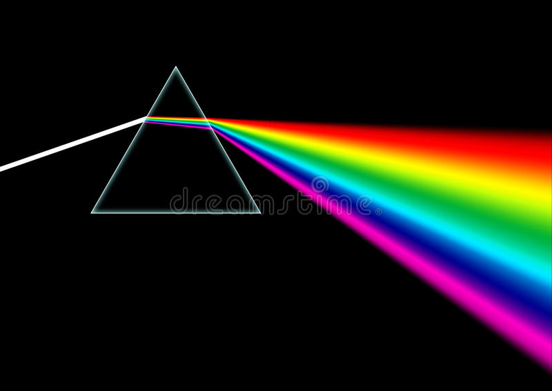Verbrokkeld Prisma stock illustratie