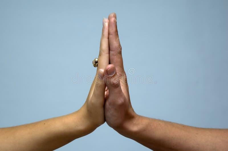 Verbundene Hände lizenzfreies stockfoto