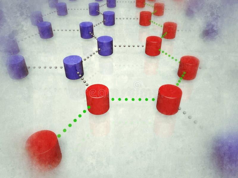Verbundene Knotenpunkte stock abbildung