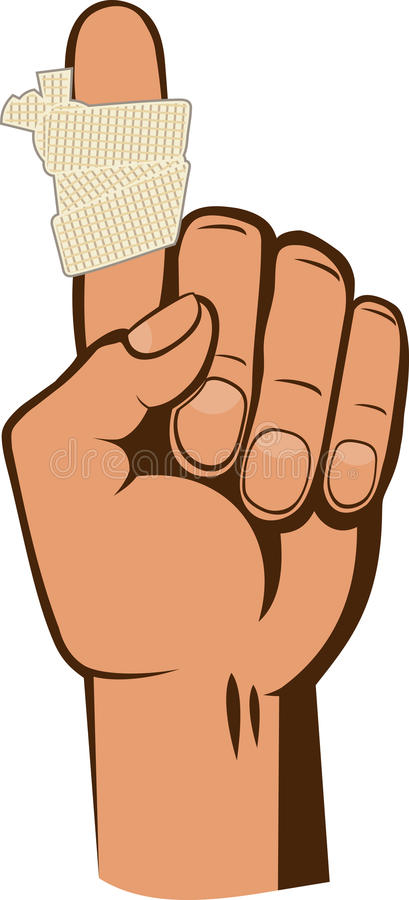 Verbundener Finger lizenzfreie abbildung