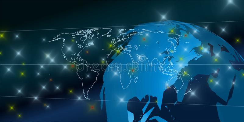 Verbundener Hintergrund der Welt 3D lizenzfreie abbildung