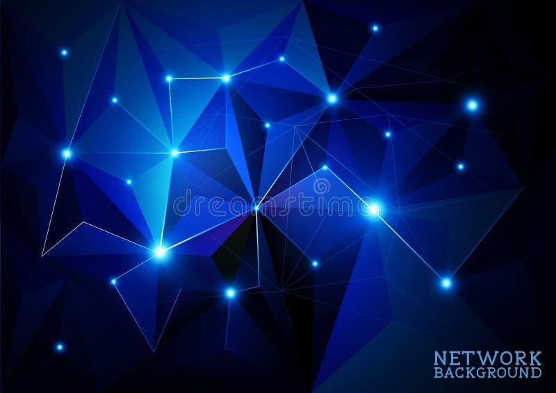 Verbundener Netz-Hintergrund lizenzfreie abbildung