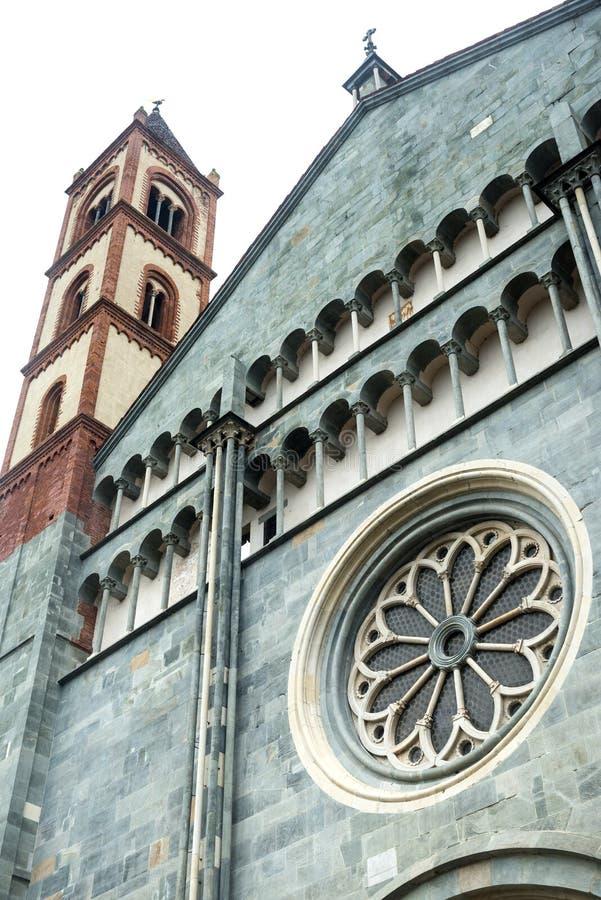 Vercelli, kościół Sant'Andrea obraz royalty free