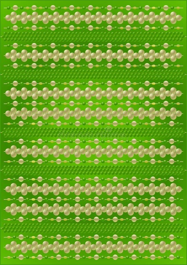 Verdünnen Sie Thread mit Perlen lizenzfreie abbildung